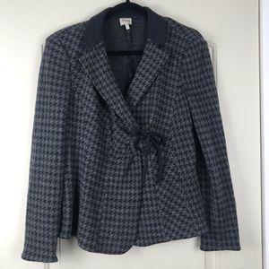 Armani soft blazer -grey and black size 12